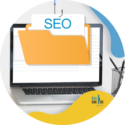 BluCactus - 39 questions to ask before hiring an SEO agency - computer with important information on it