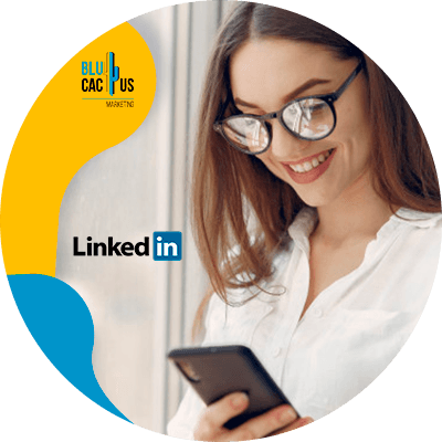 BluCactus - LinkedIn Stories - person working in the cellphone