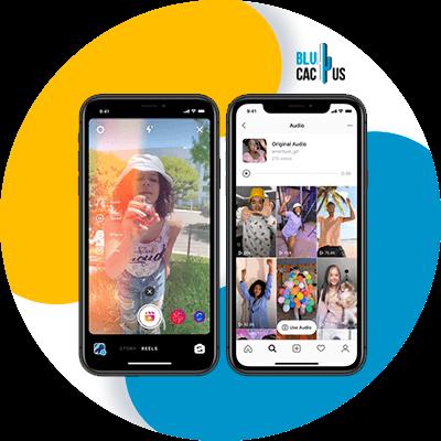 BluCactus - Cellphone with an open app