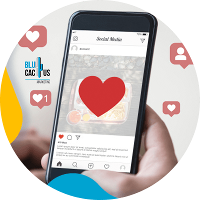 BluCactus - Types of social media - cellphone with an app open
