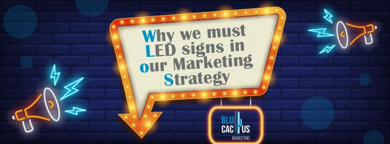 BluCactus - LED signs as a marketing strategy. - title