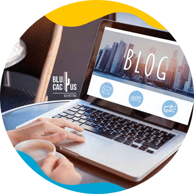 BluCactus - What is a blog - computer with important information on it