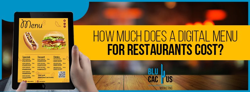 BluCactus - How much does a digital menu cost? - title