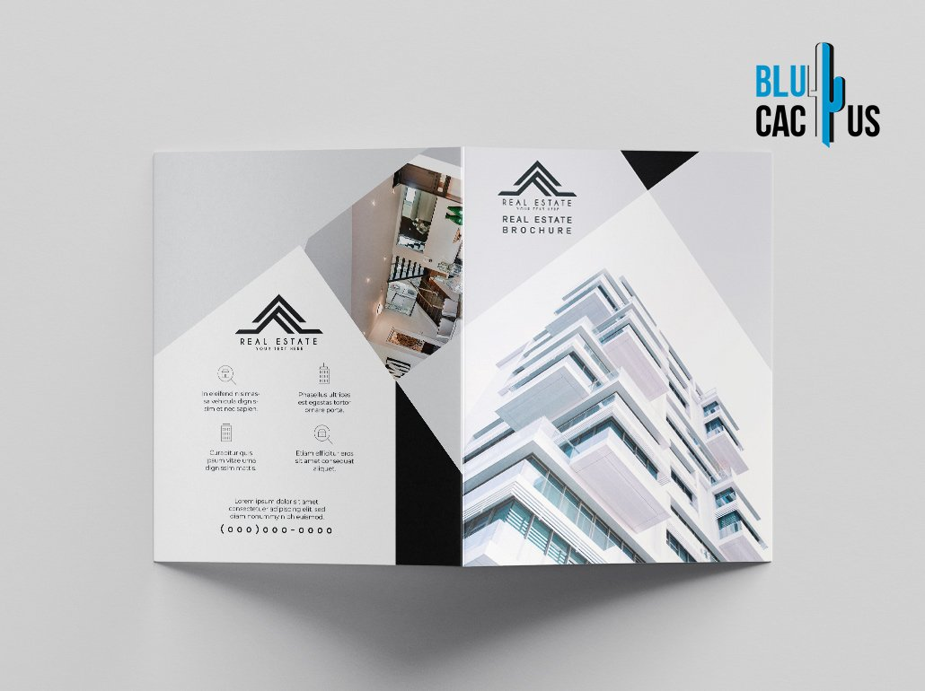 BluCactus Brochure Template Bifold Luxury Real Estate Outside preview