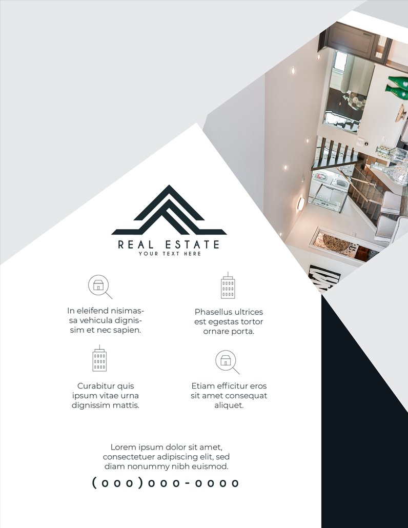 BluCactus Brochure Template Bifold Luxury Real Estate Back preview