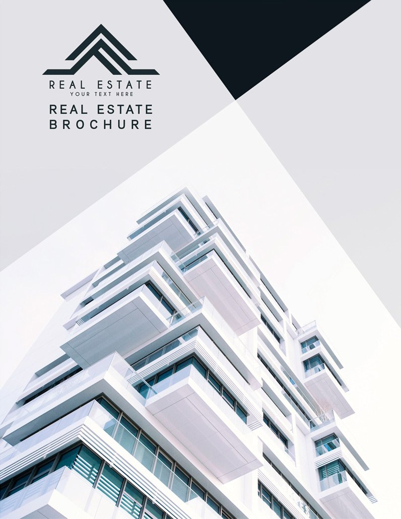 BluCactus Brochure Template Bifold Luxury Real Estate Cover preview