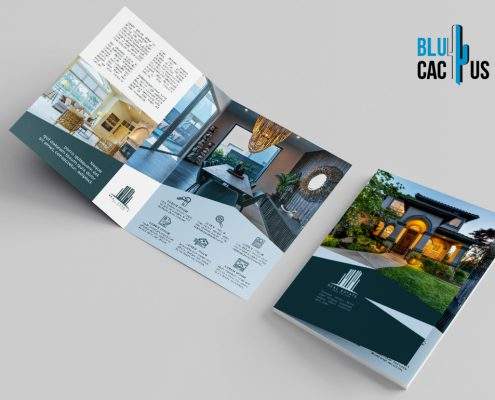 BluCactus Brochure Template Bifold Luxury Real Estate unfolded preview