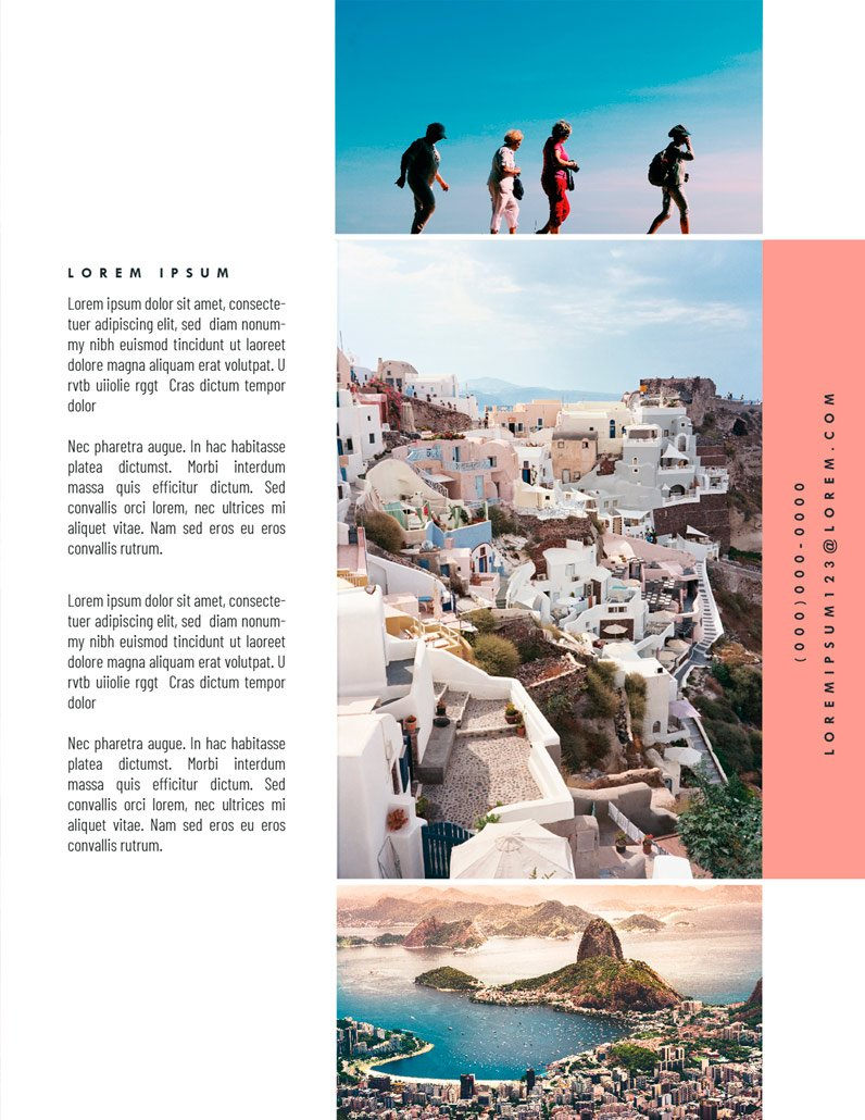 BluCactus Brochure Template Bifold Tourism Back
