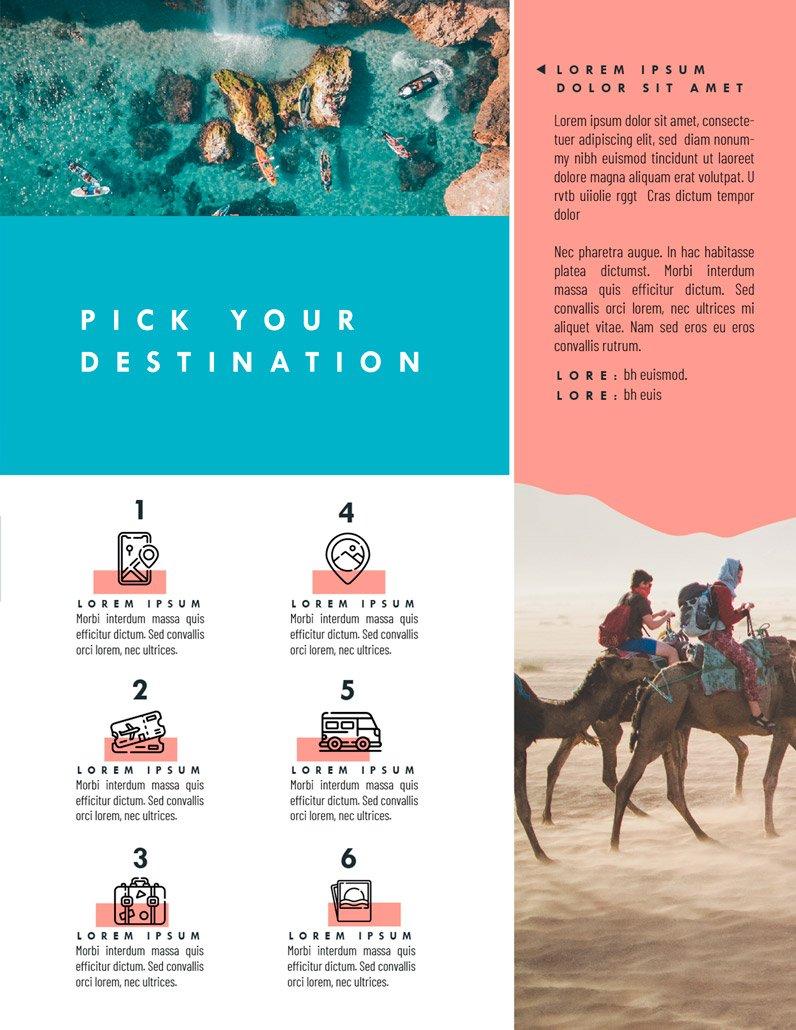 BluCactus Brochure Template Bifold Tourism Page 2