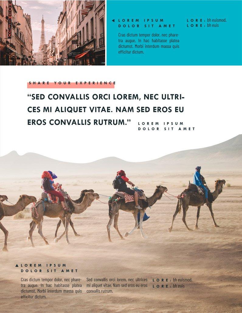 BluCactus Brochure Template Bifold Tourism Page 3