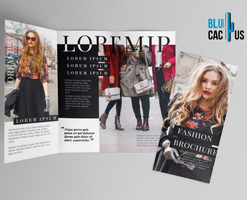 BluCactus Brochure Template Trifold Fashion Preview
