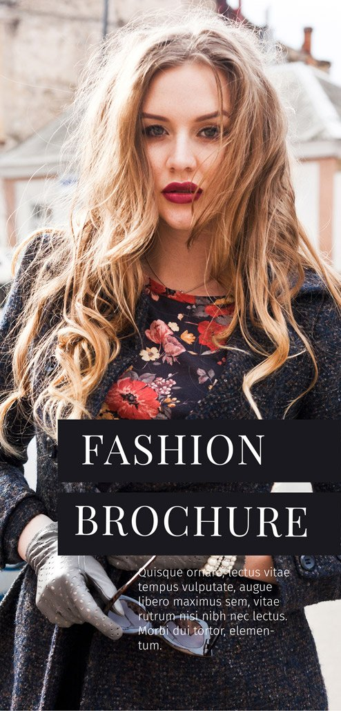BluCactus Brochure Template Trifold Fashion Cover Preview