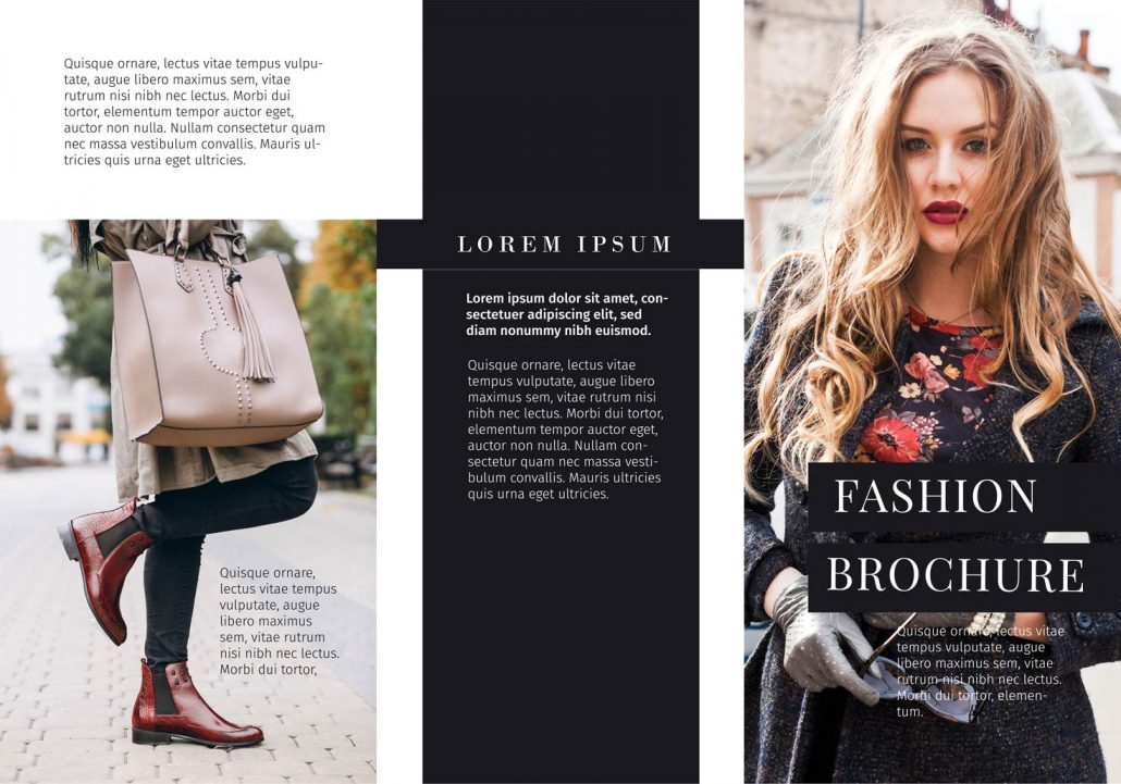 BluCactus Brochure Template Trifold Fashion Outside Preview
