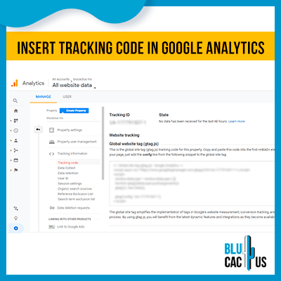 BluCactus - How to configure Google Analytic - example of google analytics steps