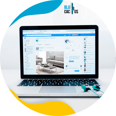 BluCactus - online platforms to sell furniture and decoration - computer with an online store