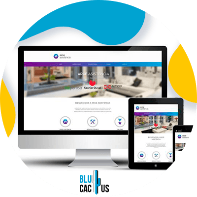 BluCactus - difference between a landing page and a website - computer with important information