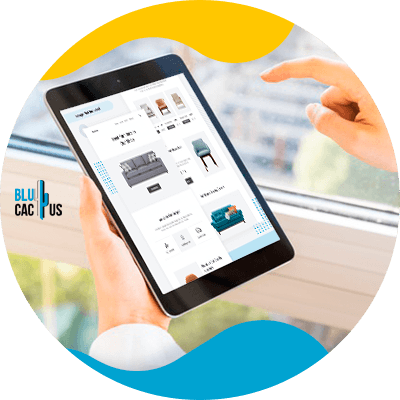 BluCactus - online platforms to sell furniture and decoration - ipad