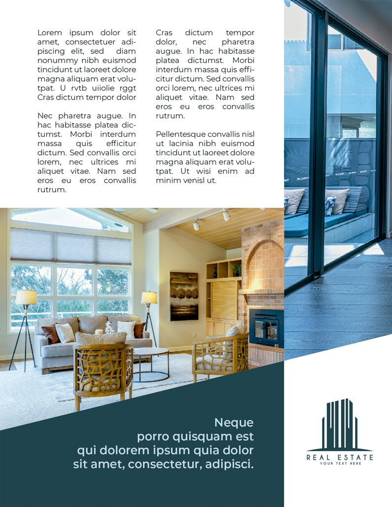 BluCactus Brochure Template Bifold Luxury Real Estate Page 2 preview