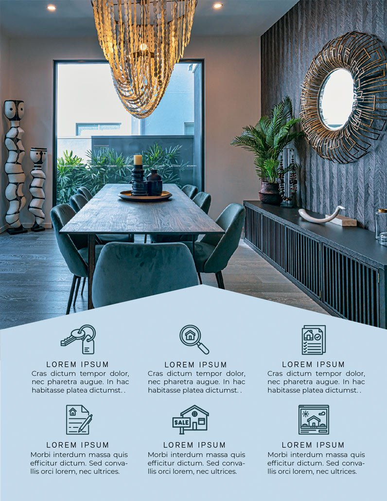 BluCactus Brochure Template Bifold Luxury Real Estate Page 3 preview