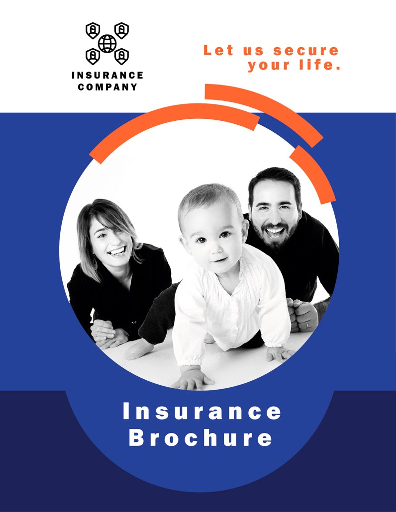 BluCactus - Insurance Brochure Template Bifold Preview cover