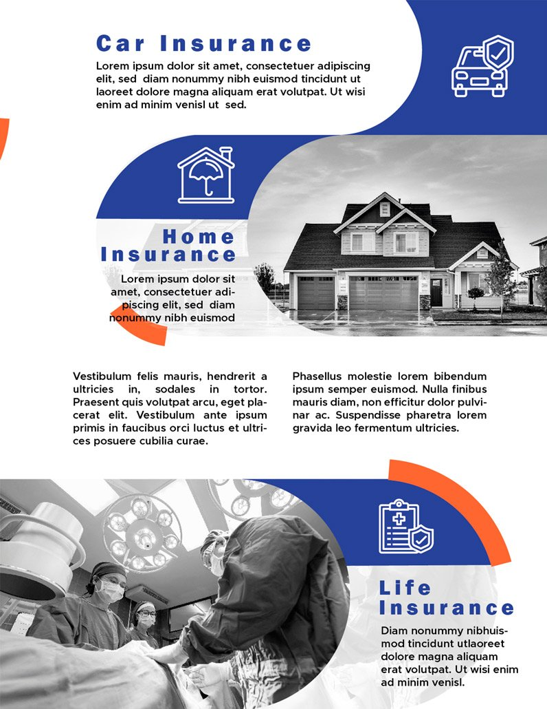 BluCactus - Insurance Brochure Template Bifold Preview page 3