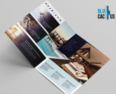 BluCactus Luxury Hotel Brochure Template Bifold Mockup