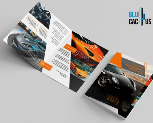 BluCactus - Luxury Automotive Brochure Template Bifold Sales Preview Mockup