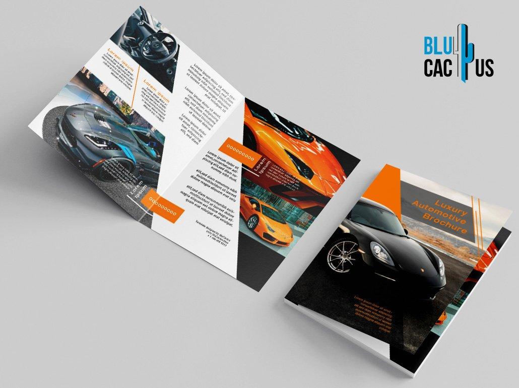 BluCactus - Luxury Automotive Brochure Template Bifold Sales Preview Mockup