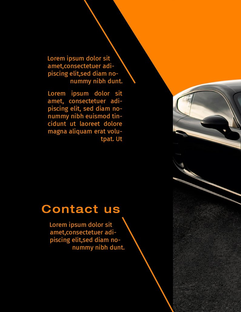 BluCactus - Luxury Automotive Brochure Template Bifold Sales Preview Back