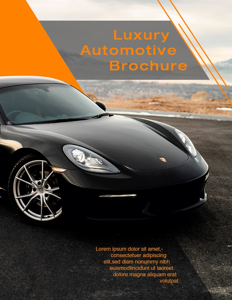 BluCactus - Luxury Automotive Brochure Template Bifold Sales Preview Cover