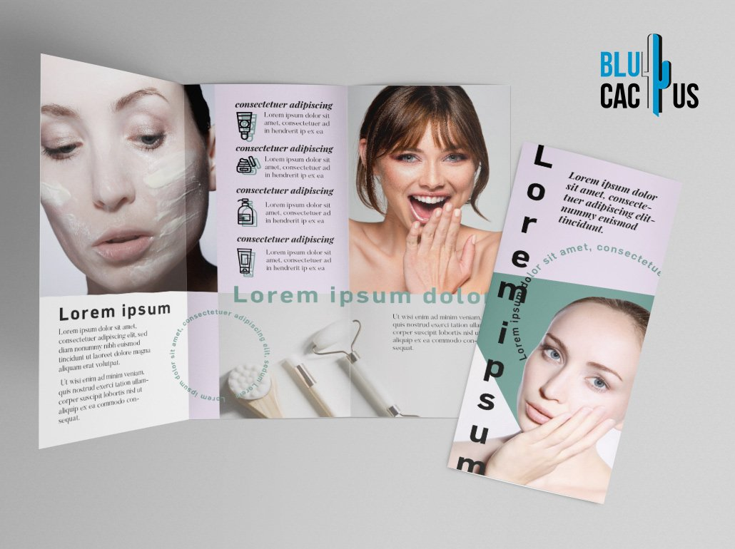 BluCactus - Beauty Brochure Template Trifold Preview Mockup