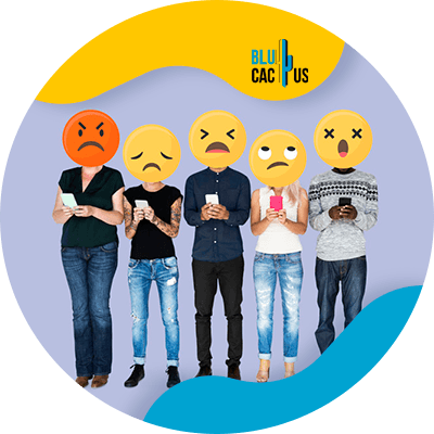 BluCactus - connect with your audience - people with emoji faces