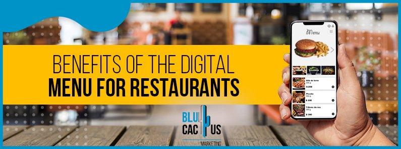 BluCactus - Benefits of a digital menu for restaurants - title