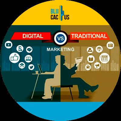 BluCactus -Digital Marketing for Beginners - traditional marketinf and digitañ