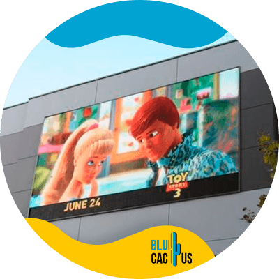 BluCactus - outdoor Led screens - example of a led screen