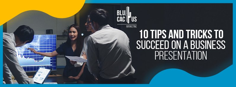 BluCactus -successful business presentation - TITLE