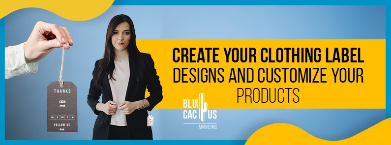 BluCactus - clothing label for your fashion brand - titulo