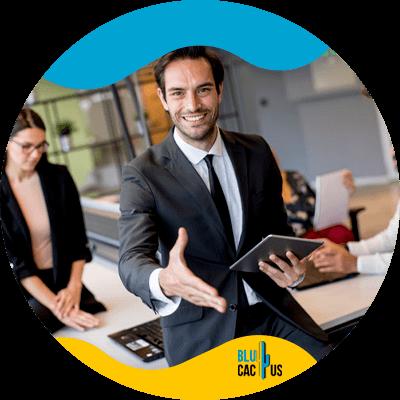 BluCactus - digital marketing strategies for retail banks - Professional people working