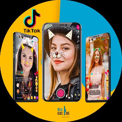 BluCactus - ¿Cómo usar TikTok para Aumentar tus Ventas? - mujer usando la aplicación de tik tok