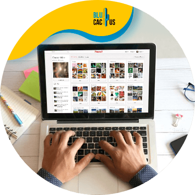 BluCactus - Pinterest marketing strategy - Device with important data