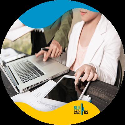 BluCactus - SEO Keywords - woman working