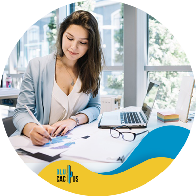 BluCactus - present a digital marketing strategy - Woman working