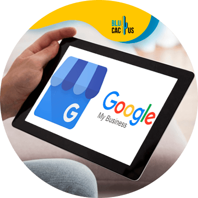 BluCactus - google my business features - Device with the google my business app
