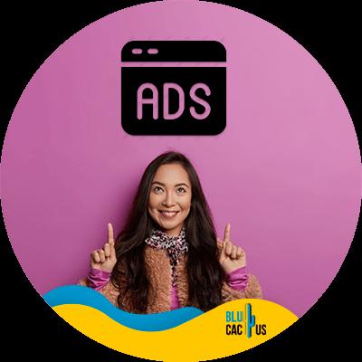 BluCactus - best hosting plan for bloggers - Ads
