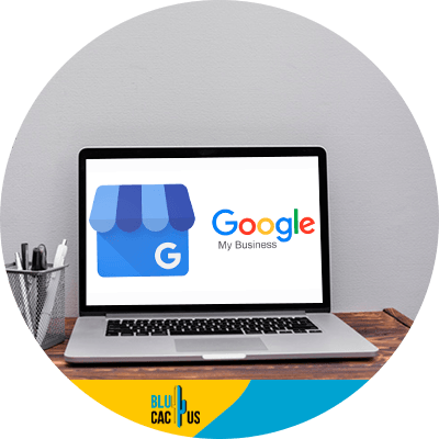 BluCactus - Have a Google my business account - A laptop showing Google