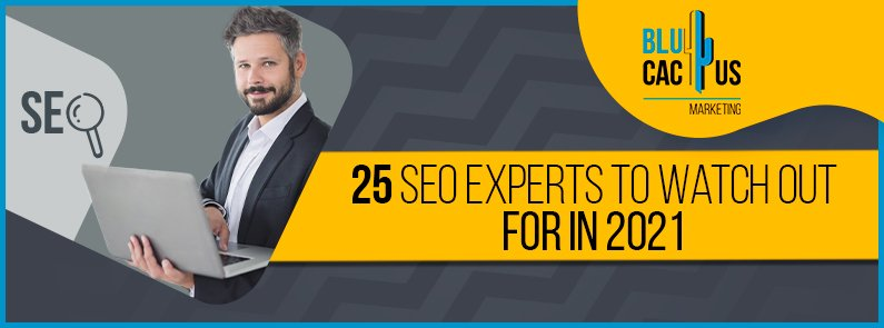 BluCactus - 25 SEO experts to watch out for in 2021 banner