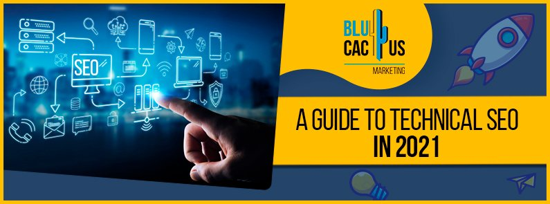 blucactus - a guide to technical SEO in 2021 banner