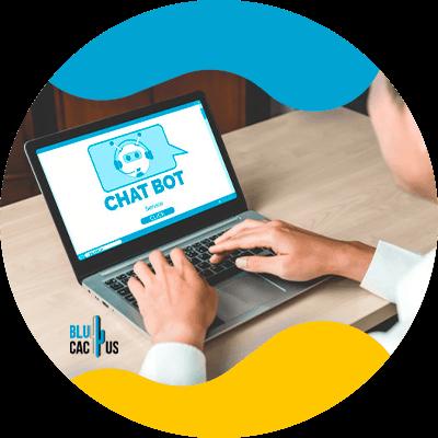 BluCactus - Chatbots - Man using a laptop