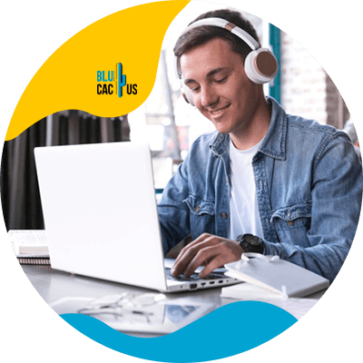 Blucactus - Easy Learning Opportunity - A man using a laptop