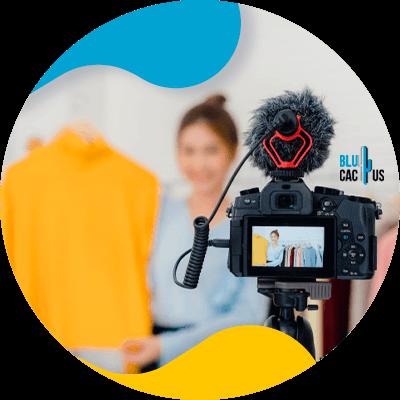 BluCactus - Influencer Marketing - Woman filming herself